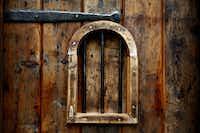 Original wood door to into the conservatory.