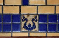 Rookwood Pottery tiles in the sunroom.