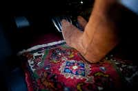 Derrill Osborn has customized his Ford Harley Davidson F-150 truck with some of his personal rugs.