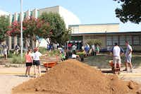 The community effort around Cary has also started going into Thomas Jefferson High School, which is just next door to the middle school.