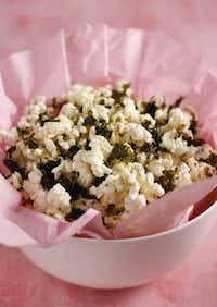 Add roasted and crumbled nori snacks to popcorn.Evans Caglage  -  Staff Photographer; bowl: Bed Bath & Beyond
