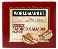 Shelf-stable smoked salmon, such as this one from World Market, isn't just for holidays.Evans Caglage  -  Staff Photographer
