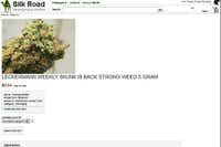 This frame grab from the Silk Road website shows a page for marijuana allegedly for sale through the site.silkroaddrugs.org - The Associated Press