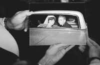 The Boyds on the day of their nuptials. 'The wedding went off beautifully,' Mrs. Boyd recalls.