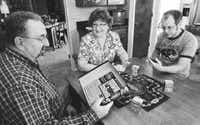 From left: Van Simpson, wife Laura and son Stephen often pull out board games for entertainment at their McKinney home. 'There was a time I would have thought 25 years old is too old to live at home,' said Laura. 'But it's different now.'
