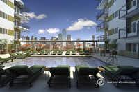 <bold>From the pool deck</bold> of the Cliff View apartments, residents will have an impressive view of downtown.Good Fulton & Farrell Architects
