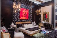 Tompkins Lloyd Interiors The duo revisited the '70s by layering their luxe boudoir with burled wood, smoked glass and fur accents.Lance Selgo  -  Unique Exposure Photography