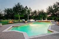 The backyard poolEbby Halliday