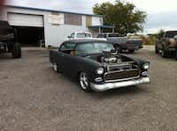 """Klump originally built this 1955 Chevrolet Bel Air, complete with a 468-blower motor in the front, for a customer. """"I wound up just buying the car and finishing it myself,"""" he said. """"I think this is probably one that we'll keep.""""Photo submitted by JOHN KLUMP"""
