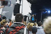 Zac Barnett of the band American Authors performs onstage during the Dallas Rock N' Roll half-marathon on Sunday, March 23, 2014. (Matthew Busch/The Dallas Morning News)Matthew Busch - Staff Photographer