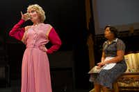 """Yolonda Williams as Vera Stark (right) with Lee Jamison as Gloria Mitchell during rehearsal for """"By The Way, Meet Vera Stark"""" at Theater Three.Brittany Sowacke - Staff Photographer"""