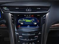The large center stack has an eight-inch touch screen and Cadillac's controversial CUE climate and audio controls.Cadillac
