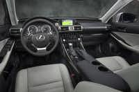 Inside the 2014 Lexus IS 350, designers opted for a sportier, more layered horizontal look for the center stack.