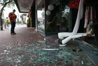 NAPA, CA - AUGUST 24:  A mannequin lays in broken glass in front of a damaged buillding following a reported 6.0 earthquake on August 24, 2014 in Napa, California.  A 6.0 earthquake rocked the San Francisco Bay Area shortly after 3:00 am on Sunday morning causing damage to buildings and sending at least 70 people to a hospital with non-life threatening injuries.Justin Sullivan - Getty Images