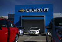 SAN LEANDRO, CA - MAY 15:  Brand new Chevrolet cars sit on the sales lot at F.H. Dailey Chevrolet on May 15, 2014 in San Leandro, California.  General Motors announced the recall of 2.7 million GM cars and trucks for five different safety issues that include steering and braking problems. Vehicles affected by the recall include the 2004-2012 Chevrolet Malibu, 2008-2013 Corvette, 2005-2010 Pontiac G6, 2007-2010 Saturn Aura and the 2013-2014 Cadillac CTS. GM has issued 24 recalls in 2014 that have affected 11.2 million vehicles in the U.S. and 12.8 worldwide.  (Photo by Justin Sullivan/Getty Images)Justin Sullivan - Getty Images