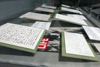 Correspondence between Marina Oswald and Ruth Paine, as well as affidavits given to police at the time of President John F. Kennedy's assassination, are on display at the visitors center.Photo by REX C. CURRY