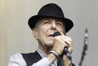 Canadian Leonard Cohen performs during a concert on Sint-Pietersplein in Ghent, on August 12, 2012.