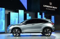 The Honda Urban SUV concept car is introduced at the 2013 North American International Auto Show in Detroit, Michigan, on January 14, 2013.    AFP PHOTO/Stan HONDASTAN HONDA/AFP/Getty ImagesSTAN HONDA - AFP/Getty Images