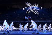 Artists perform during the opening ceremony.ALBERTO PIZZOLI - AFP/Getty Images