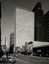 The Adolphus is now dwarfed by neighboring skyscrapers, but it was head and shoulders above other downtown Dallas buildings for years.