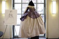 """One of Austin Scarlett's sketches and costume designs for """"With Blood, With Ink"""" for the Fort Worth Opera is shown at a preview event on Jan. 16.Rasy Ran/Fort Worth Opera"""
