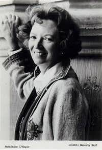 Madeleine L'Engle (November 29, 1918 Ð September 6, 2007) was an American writer best known for her young-adult fiction, particularly the Newbery Medal-winning A Wrinkle in Time and its sequels: A Wind in the Door, National Book Award-winning A Swiftly Tilting Planet, Many Waters, and An Acceptable Time. Her works reflect both her Christian faith and her strong interest in modern science. (This caption was copied from Wikipedia.)