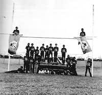 A group of 1976 senior Lake Highlands High School boys created a club called the Flaghangers. They were supporters of the school and football team.DMN file photo