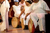 The Bandan Koro drummers will perform as part of DanceAfrica Marketplace on Oct. 6, 2012, at Strauss Square.Niesha Lanea Graves