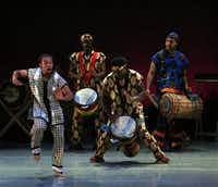 Bandan Koro African Dance and Drum Ensemble performed at the DanceAfrica Dallas 2011 presentation at the Majestic Theatre in Dallas on October 7, 2011.Nan Coulter