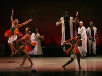 The Dallas Black Dance Theatre performed at the DanceAfrica Dallas 2011 presentation at the Majestic Theatre in Dallas on October 7, 2011.Nan Coulter