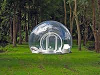 The CristalBubble is an entirely transparent CasaBubble model that can be used as an outdoor living space or bedroom.Akron Beacon Journal  - MCT