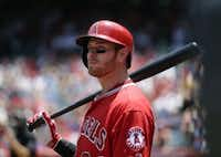 Josh Hamilton has struggled with the Los Angeles Angels since leaving the Rangers after the 2012 season. (AP Photo)