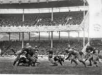 """Army-Navy Game at the Polo Grounds, New York, 1916. From """"The Big Picture: America in Panorama,"""" by Josh Sapan"""