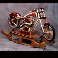 JoAn Mayes said her husband first got a very basic plan online to build a rocking motorcycle (above), but after building the first one, he said he could build them with more detail to look like specific types of motorcycles.Chris Mayes - Submitted