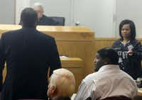 Dallas Cowboys defensive tackle Josh Brent (right) and his attorney George Milner (left) appeared in Dallas County 195th District Court on Tuesday for a bond reduction hearing. Brent is charged with intoxication manslaughter after a Dec. 8 crash that resulted in the death of teammate Jerry Brown. A judge has ordered Brent to wear an electronic monitor while free on bail.