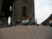 Isabella, Greenberg and Elijah take in the sights at a cathedral in Mexico City while on a service trip.Photo submitted by CATHERINE GREENBERG