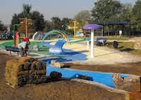 The splash park at W. J. Thomas Park in Carrollton