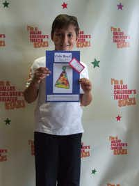 Cat Cole Boyd with his winning design of the hat he designed for Dallas Children's Theater's production of Dr. Seuss' The Cat in the Hat.