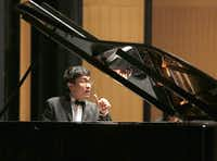 Pianist Congcong Chai plays Piano Concerto No. 1 in F-sharp Minor, Op. 1 by Serge Rachmaninoff with the Dallas Chamber Symphony concert in Dallas,  Tuesday, April 30, 2013.Ron Heflin - Special Contributor