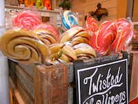 Swirled lollipops are among the goodies for sale at Miss Giddy's on High Street.Helen Anders