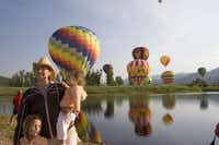 A family outing during a balloon festival in Steamboat Springs.Matthew Inden  -  Colorado Tourism