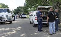 Dallas and Murphy police investigated a possible suicide in northeast Dallas on Saturday.Mona Reeder - Staff Photographer