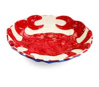 Get crabby: Offer guests appetizers or entree with this 16-inch diameter, ceramic platter embossed with a red crab. $39.95 at Swoozie?s, Dallas, and swoozies.com