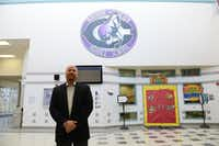 Cain Middle School principal Jason Johnston recently won the H-E-B Excellence in Education award in the secondary teachers category, which came with $11,000 in cash for his use and a grant total of $27,500 for the school.Photos by Rose Baca - neighborsgo staff photographer