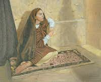 """""""Mary Sister of Lazarus"""" by Chuck GilliamColored Pencil Society of America"""