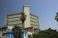 The mid-century modern Riviera Hotel in downtown Cuba bears a striking resemblance to the Statler Hilton in downtown Dallas.Joy Tipping  -  Staff