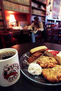 Legal Grounds Law & Coffee offers a place to gather, drink coffee and munch on some of the many baked goods.DMN file photo