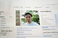 This 2013 file photo shows a printout of the Facebook page for Loren Williams. His mother, Karen Williams, sued Facebook for access to Loren's account after he died in a 2005 motorcycle accident at the age of 22.Lauren Gambino - AP