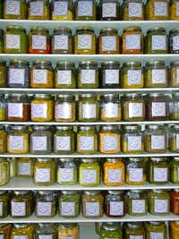 A tasty variety of herbs and teas is on display at Sacred Moon Herbs, on Mercer Street.Helen Anders
