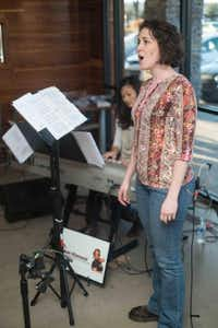 Stephanie Lewey performs at a recent Classical Open Mic in Frisco, accompanied by Tammy Meinershage.Photo submitted by JON HESS
